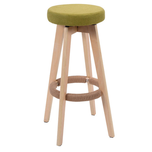 29-Inch Round Wood Bar Stool Modern Dining