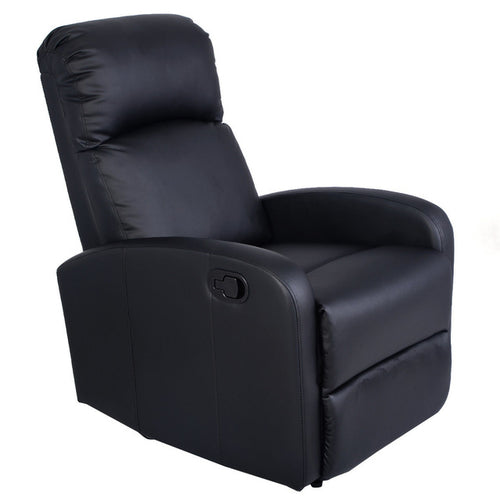 Manual Recliner Sofa Chair Black Home