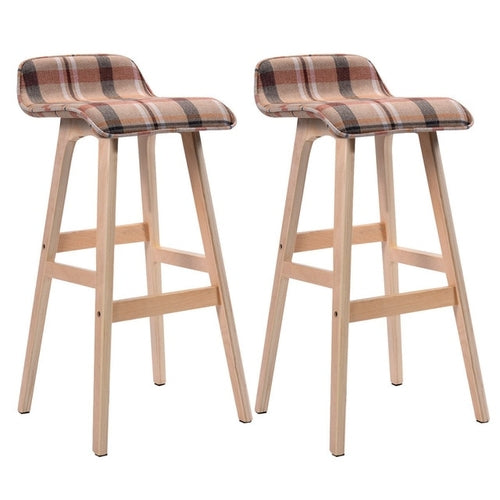 Set of 2 29-Inch Vintage Wood Bar Stool