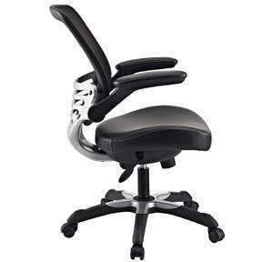 Modern Black Mesh Back Ergonomic Office Chair with Flip-up Arms - bringown
