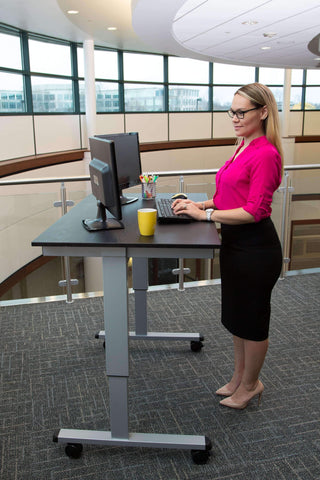 "Luxor 48"" Electric Standing Desk STANDE-48-BK_BO - bringown"