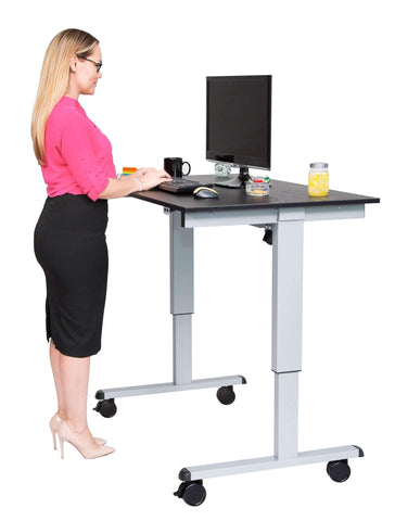 "Luxor 48"" Electric Standing Desk STANDE-48-AG_DW - bringown"
