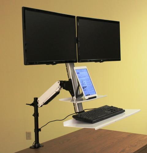 Rocelco Ergonomic Floating Desk - Stretch Desks - Height Adjustable Standing Desk