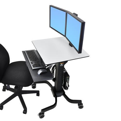 Ergotron WorkFit-C, Dual Sit-Stand Workstation - Stretch Desks - Height Adjustable Standing Desk
