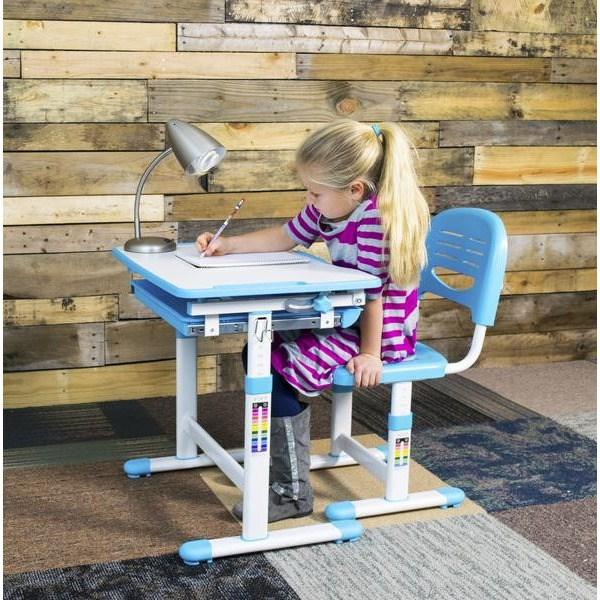 Vivo Height Adjustable Children's Desk with Chair in Pink - Stretch Desks - Height Adjustable Standing Desk
