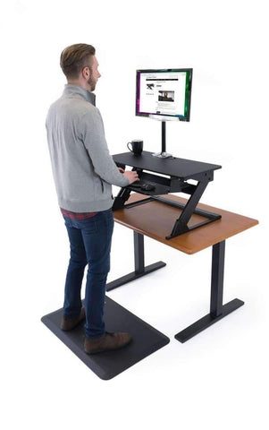 Imovr ZipLift+ Standing Desk Converter - bringown