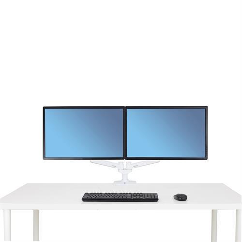 Ergotron LX Dual Side-by-Side Arm (white) - Stretch Desks - Height Adjustable Standing Desk