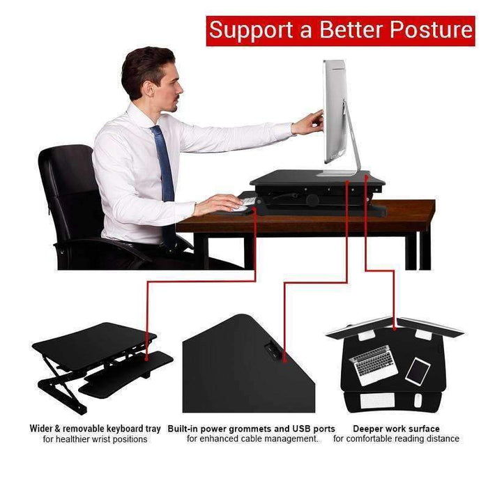 loctek lx36 height adjustable standing desk riser - Stretch Desks - Height Adjustable Standing Desk