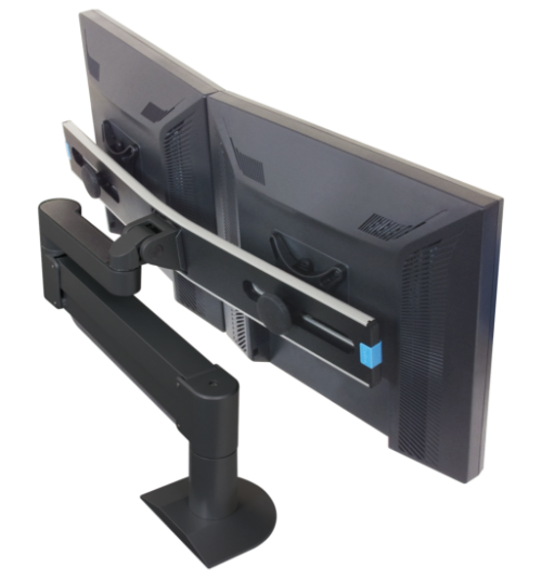 Innovative 7500-Wing – Deluxe Dual Monitor Arm - Stretch Desks - Height Adjustable Standing Desk