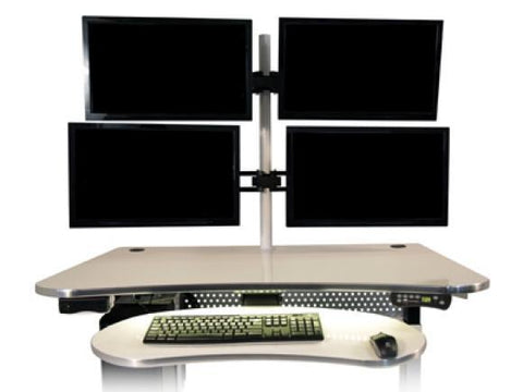 versatable Sit to Stand Keyboard Arm and Tray - bringown