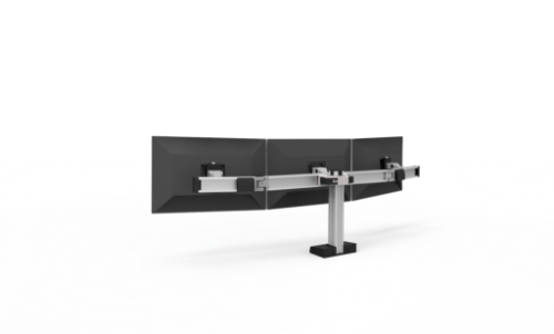 Innovative Bild Triple Monitor Mount - Stretch Desks - Height Adjustable Standing Desk