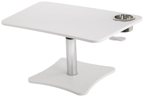 High Rise Height Adjustable Laptopn Stand with Storage Cup (Black or White) - bringown