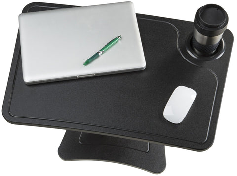 High Rise Height Adjustable Laptopn Stand with Storage Cup (Black or White)