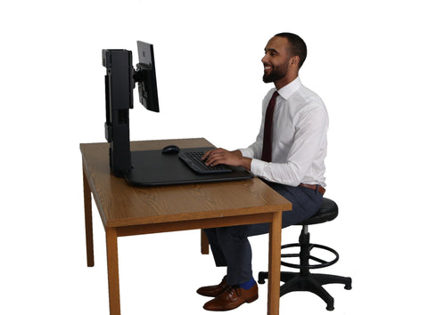 High Rise Sit and Stand Desk Converter - bringown