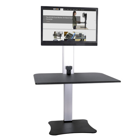 High Rise Electric Sit Stand Desk Converter - bringown