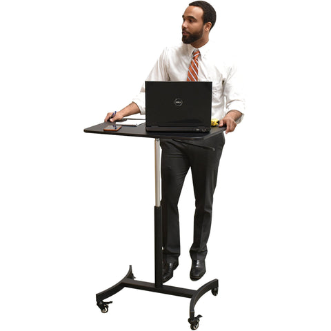 High Rise Mobile Adjustable Standing Desk - bringown