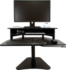 High Rise Adjustable Stand Up Desk Converter - bringown