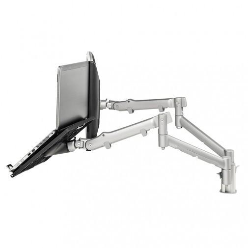 Systema SNCS10S Dual Spring-Assisted Monitor/Notebook Mount - Stretch Desks - Height Adjustable Standing Desk