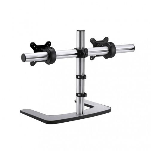 Visidec VFS-DH Freestanding Dual Monitor Mount - Stretch Desks - Height Adjustable Standing Desk