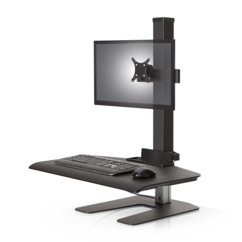 Winston Workstation Single Monitor with Compact Work Surface - Stretch Desks - Height Adjustable Standing Desk