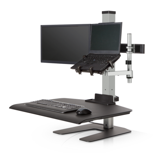 Winston Workstation Quad Freestanding Sit-Stand - Stretch Desks - Height Adjustable Standing Desk