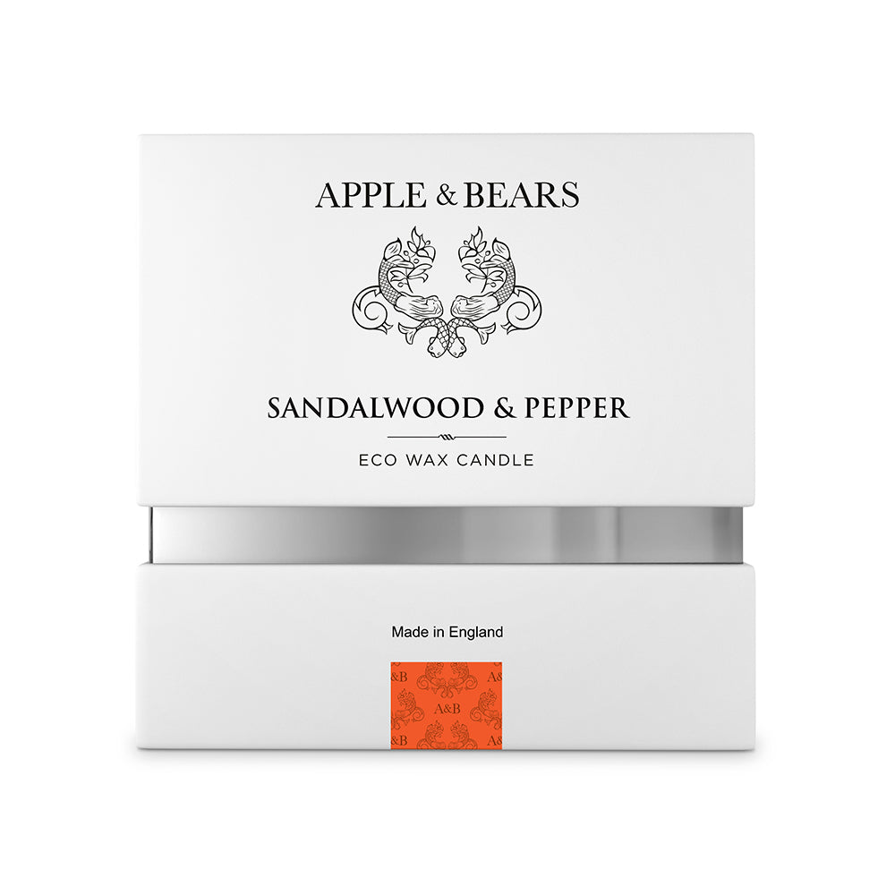 Sandalwood & Pepper Eco Wax Candle