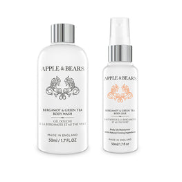 Bergamot & Green Tea Travel Set - Wash & Lotion (2 x 50ml)