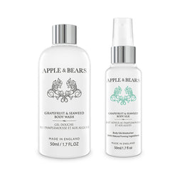 Grapefruit & Seaweed Travel Set - Wash & Lotion (2 x 50ml)