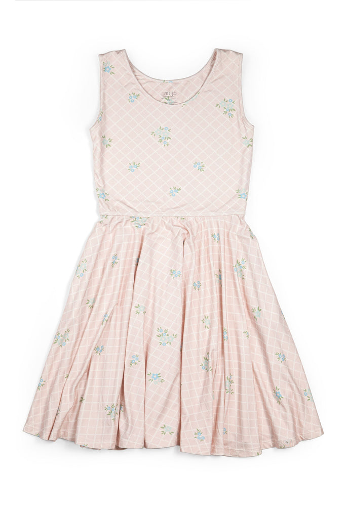 Juniors Empire Dress/ Peony