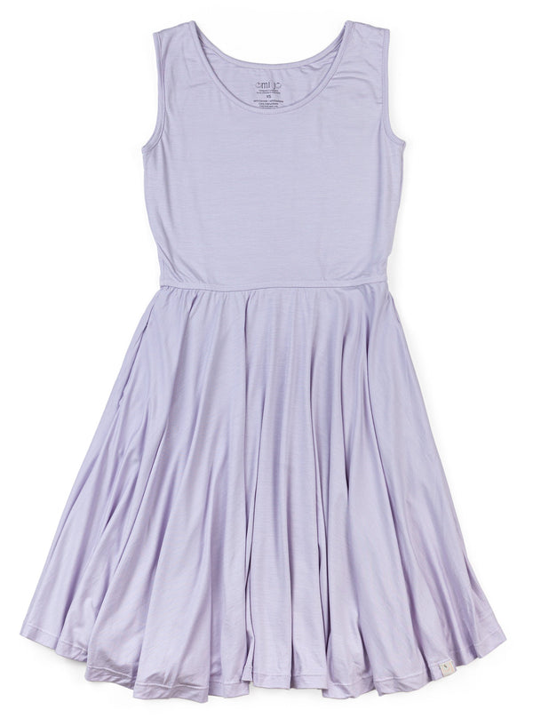 Juniors Tank Dress / Butterfly Purple