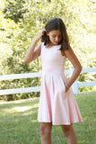 Juniors Tank Dress / Oleander Pink