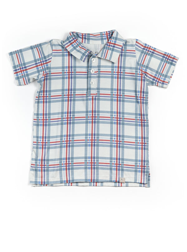 Collared Boy Shirt / Americana Plaid