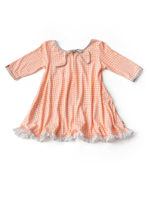 House Dress Tunic / Cantaloupe Gingham