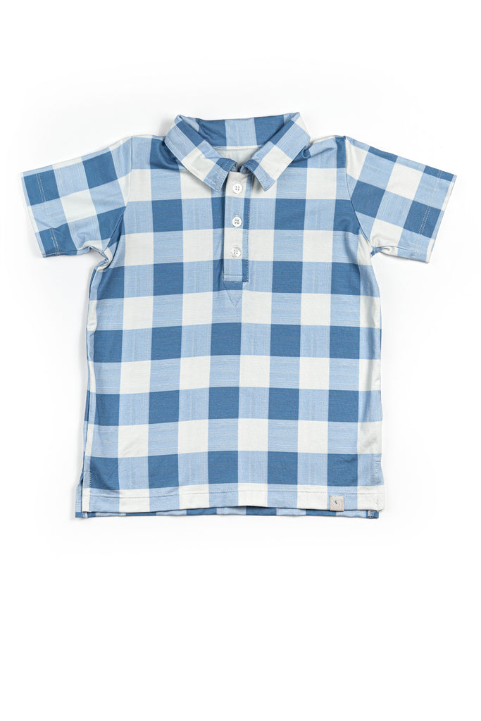 Collared Boy Shirt / Blue Buffalo Check