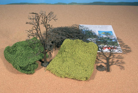 Heki 1974 Tree Kit & Leaf Foliage  1675 & 1676 x5 Trunks & 10 Branches