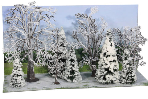 Heki 2101 Snowy Trees And Firs 7-14cm x10
