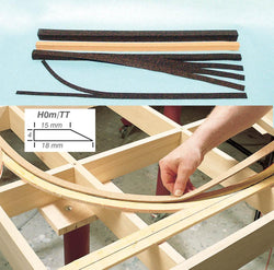 Heki 3188 H0m TT Super Flex Track Bed Strip Dark 3.6m