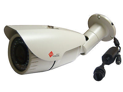 Bullet Ip Camera 3mp Varifocal 2.8-12mm 42 Led`s 40m Night Vision Poe White - Techvision Security Group
