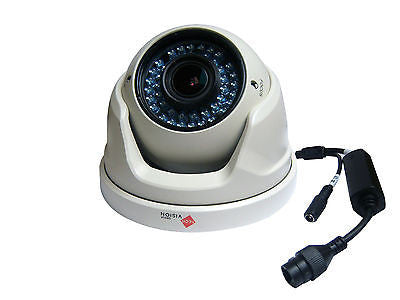 30m Night Vision Cctv Ip Dome Camera Varifocal Lens 2.8-12mm 3mp White - Techvision Security Group