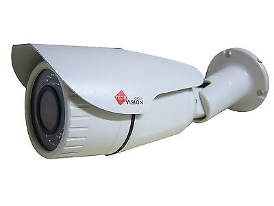 720p AHD Hd Cmos 1.3mp 2.8-12mm Manual Lens 42 Led Ir Cctv Bullet Camera Beige - Techvision Security Group