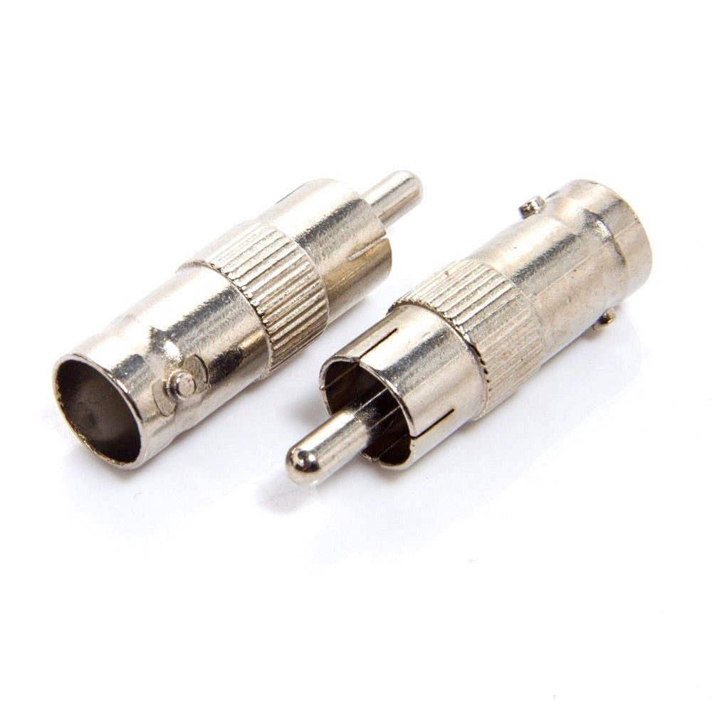 10 x BNC Female To Phono Male RCA Jack Convertor CCTV VIDEO RCA SOCKET ADAPTER - Techvision Security Group