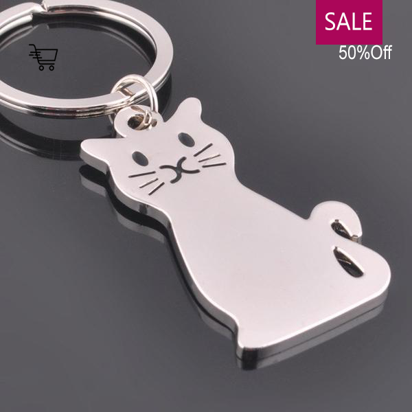 Sale 50% Off! Cute Cat Pendant Keychain