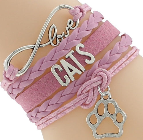 New Arrival! Infinity Love Cats Charm Bracelet