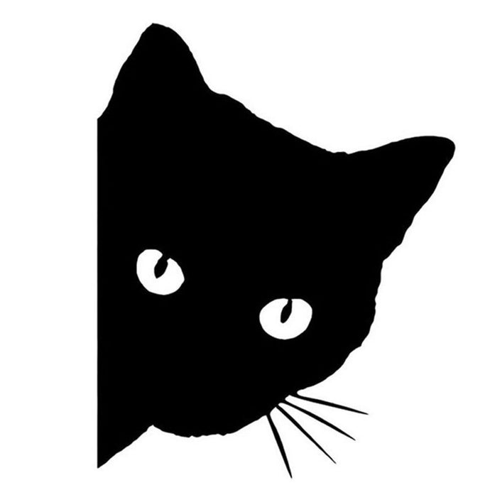 Cat Face Funny Car Decal Window Sticker