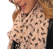 Sale! Colorful Printed Cartoon Cat Kitten Scarf