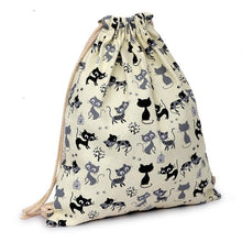 Cute cats printing backpack