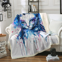 Sale! Space Cat Soft Blanket