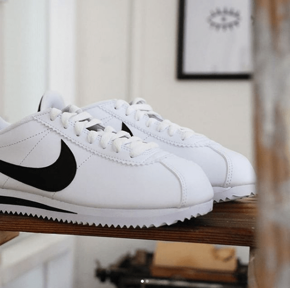 NIKE CLASSIC CORTEZ LEATHER WHITE & BLACK