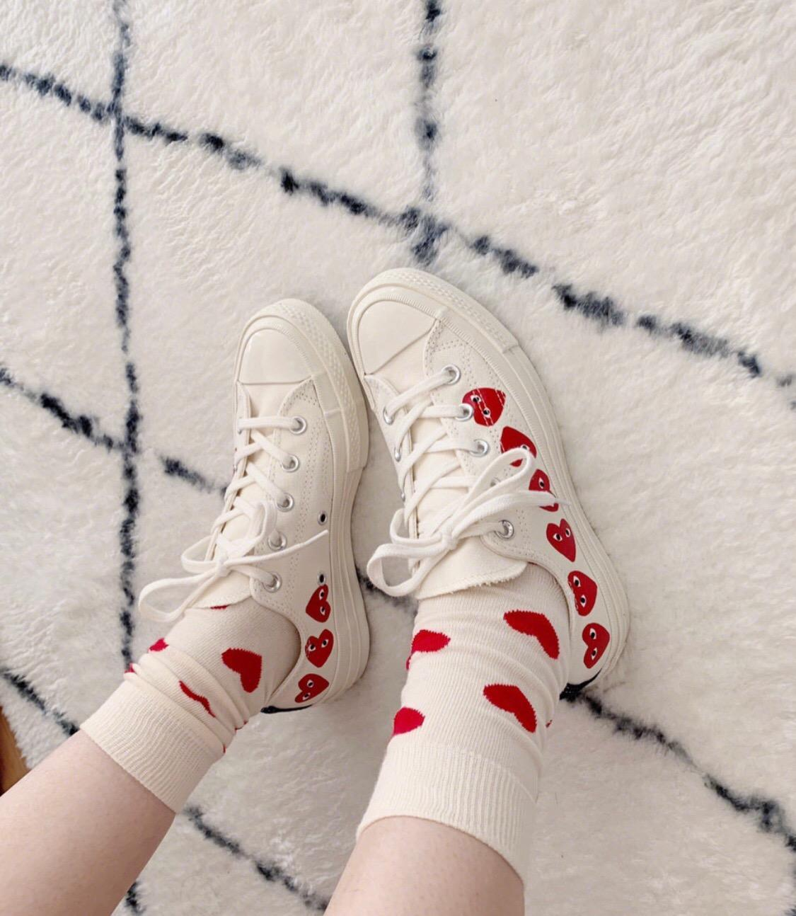CDG PLAY X CONVERSE CHUCK TAYLOR 1970S MULTI HEARTS LOW''WHITE''