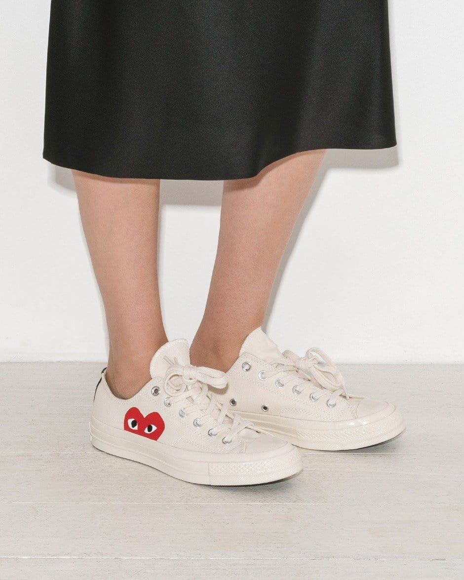 CDG PLAY x Converse Chuck Taylor 1970s Low''WHITE''